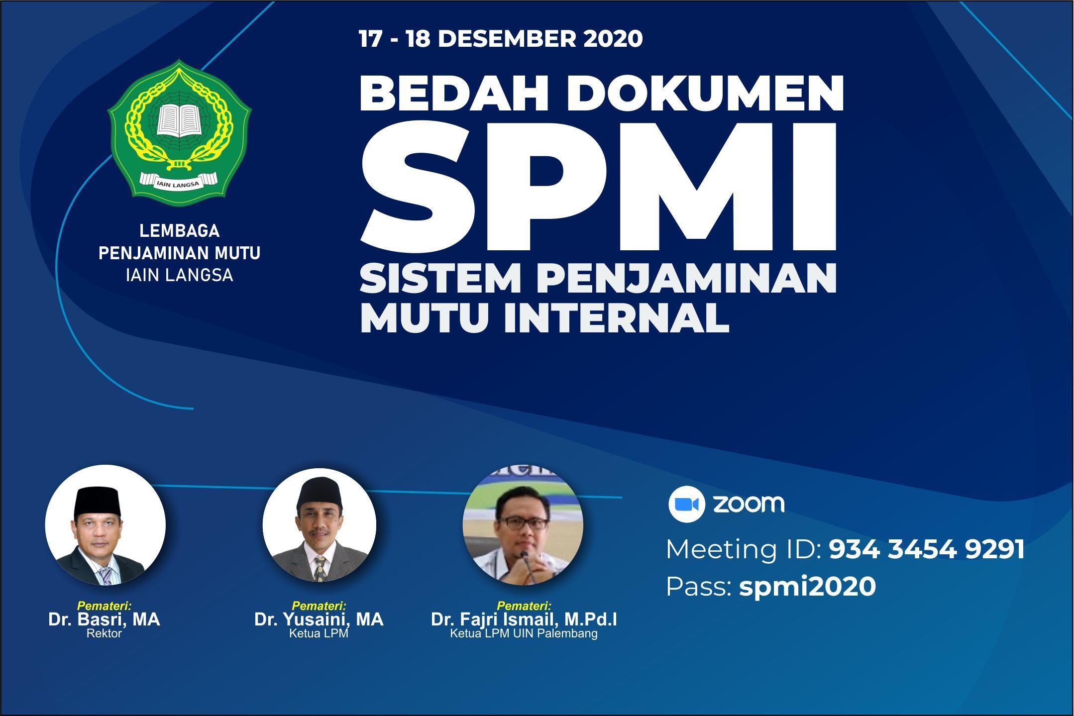 Bedah Dokumen Sistem Penjaminan Mutu Internal (SPMI)